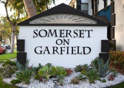 Somerset on Garfield Sign