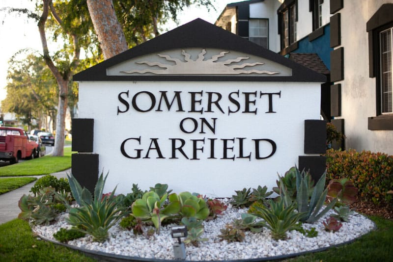 Somerset Apartments Entrance Sign