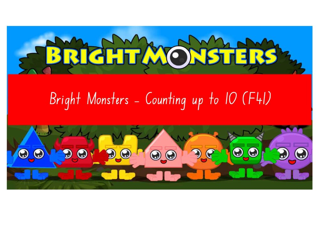 Learning to count up to 10 with animals, shapes and fruits - Video F41.