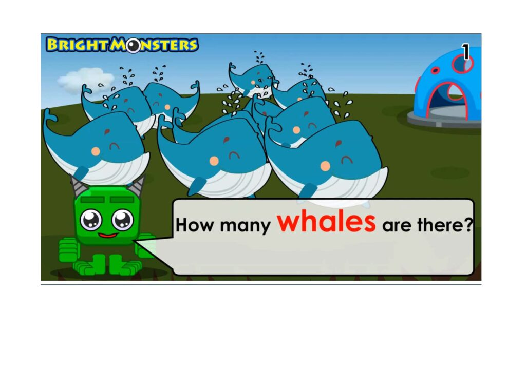 Learning to count to 10 whales.