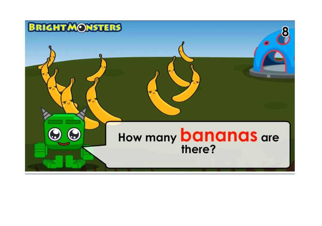Learning to count to 10 bananas.
