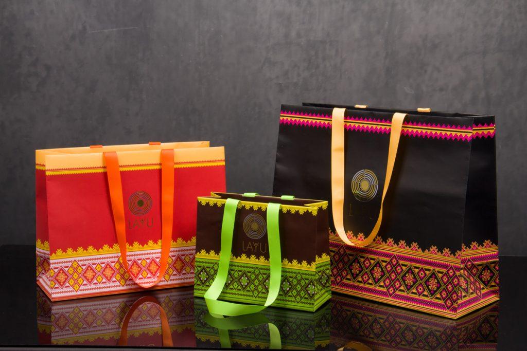 Custom printed luxury eurotote bags