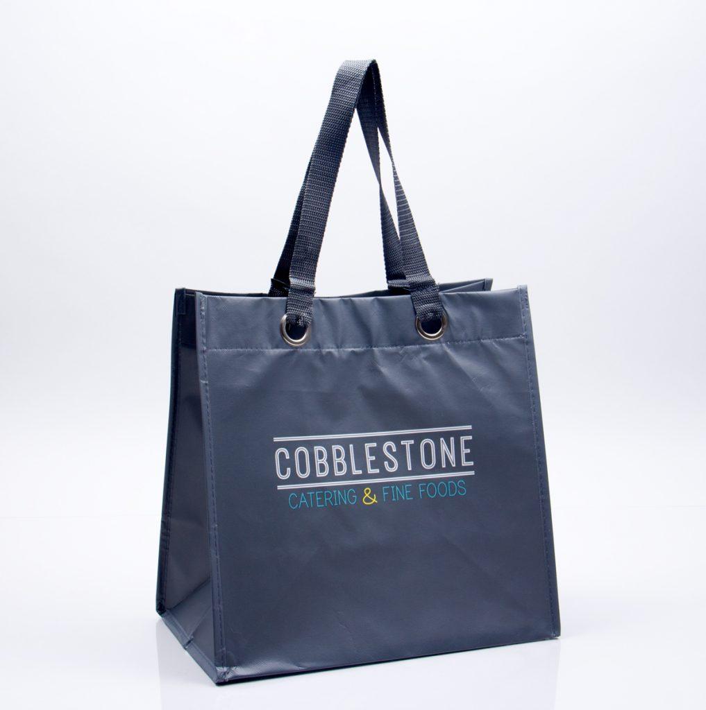 Custom printed catering reusable tote bag