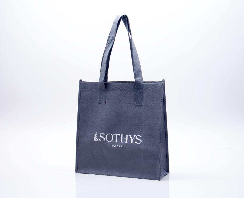 Gray reusable tote bag - custom printed