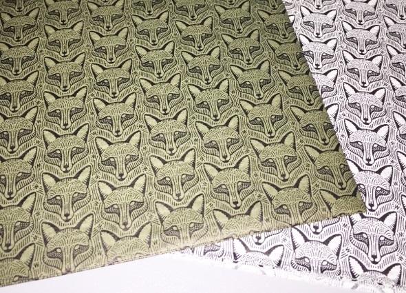 Repeating Fox Pattern Custom Tissue Paper