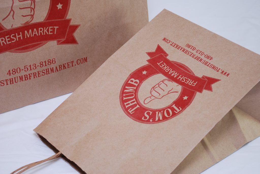 ink printed paper shopping bag