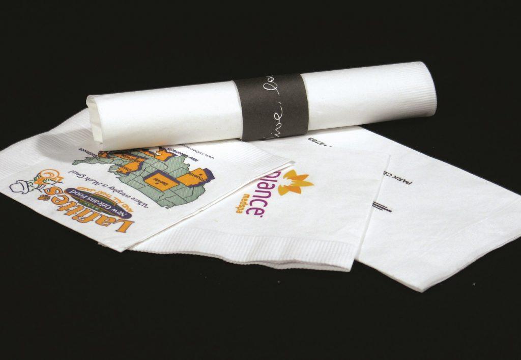 Custom printed napkins