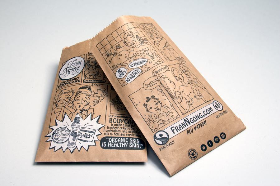 Eco-friendly custom printed paper bags