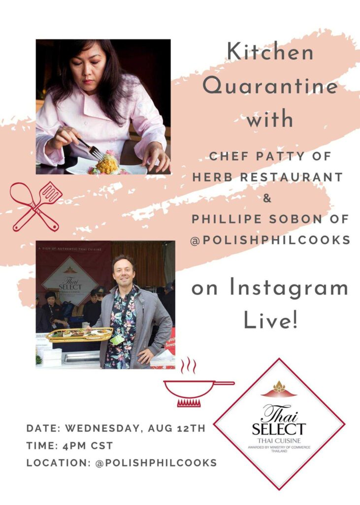 Example of an Instagram live event advertisement for a chef