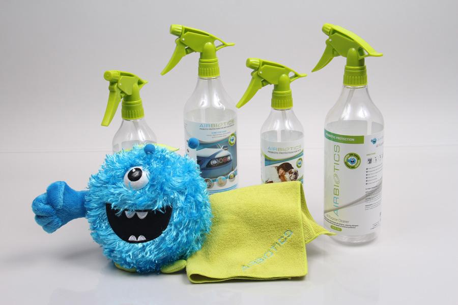 Custom spray bottles and accessories for Airbiotics