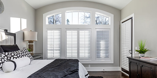 Shutters without Top Arch covered / French Door Shutter