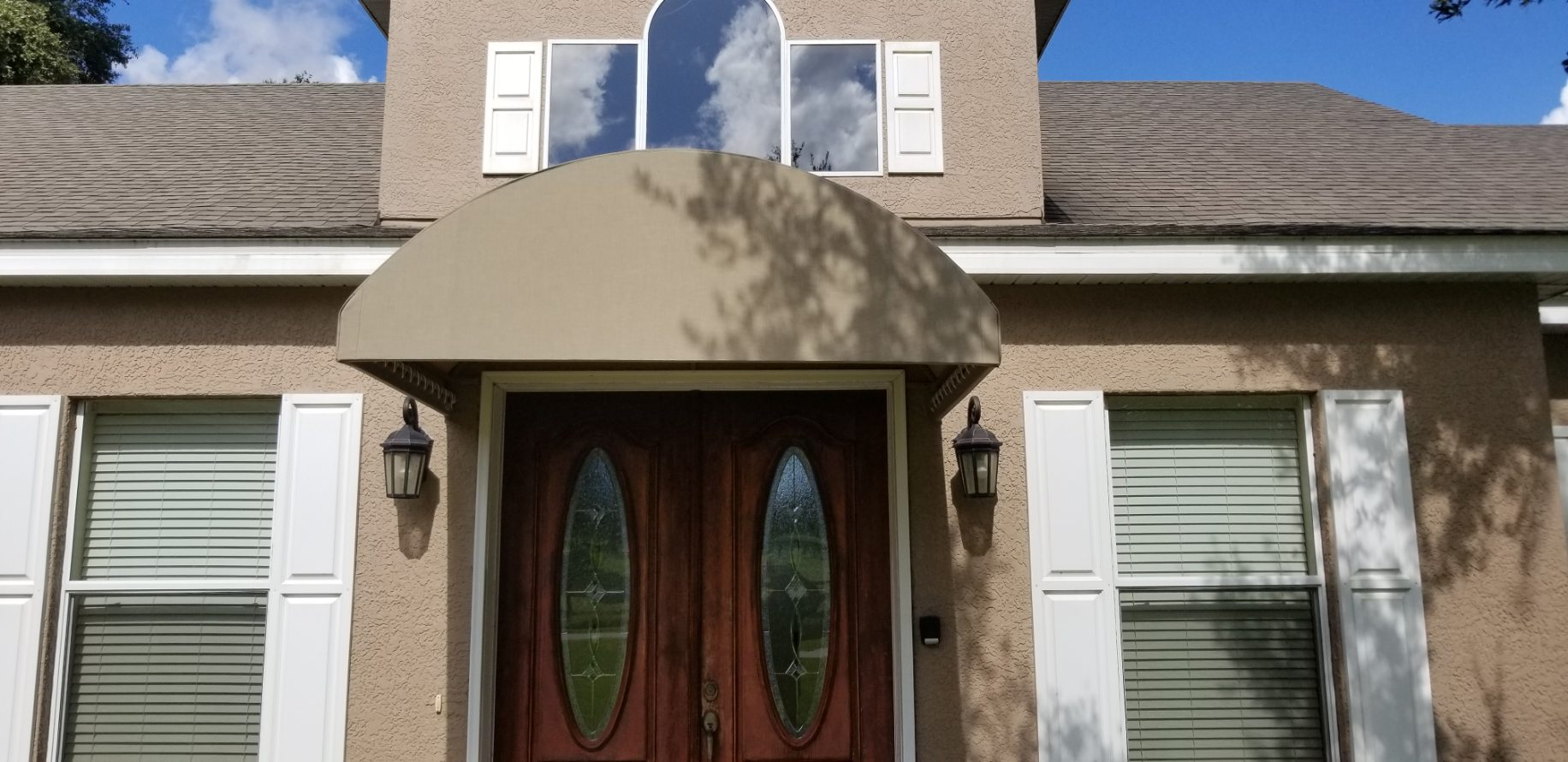 Arched Entrance Canopy
