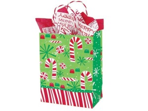 Candy Cane Paper Gift Bags