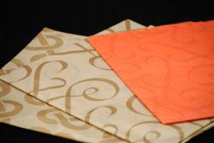 Custom printed tissue paper