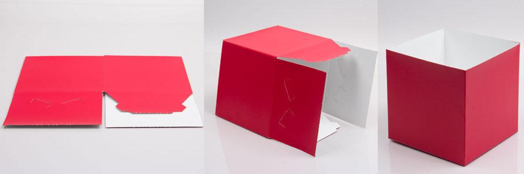 Folding gift box assembly