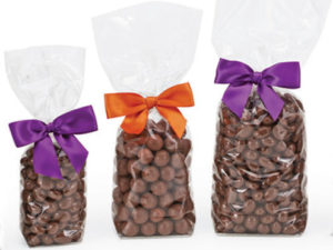 Clear candy bags with hard bottoms