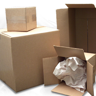 Corrugated cardboard shipping boxes