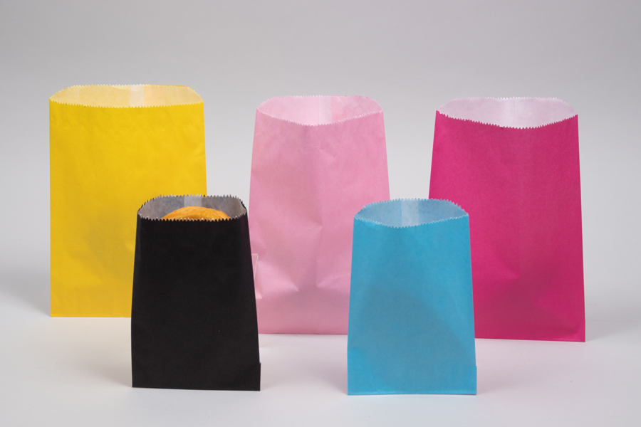 Glassine lined paper merchandise bags