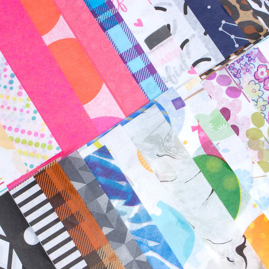Colorful tissue paper designs