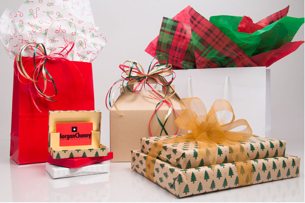 Holiday packaging for retail and gifts