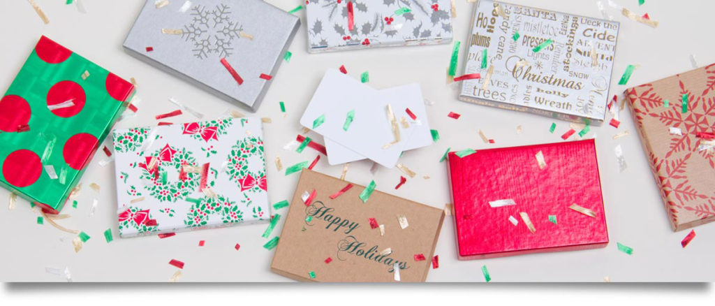 Gift card boxes for easy packaging