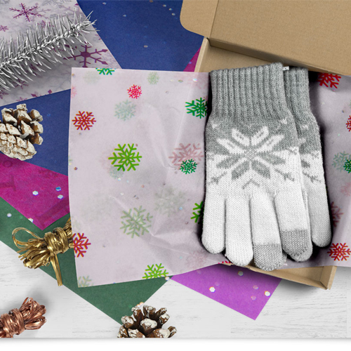 Tissue paper for holiday gift packaging