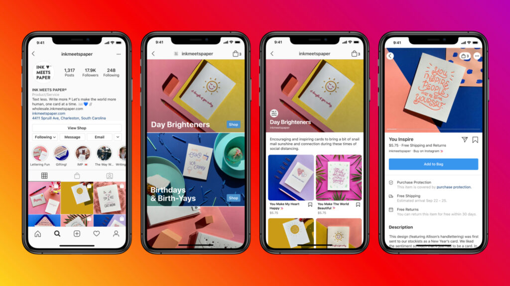 Instagram new shopping tab