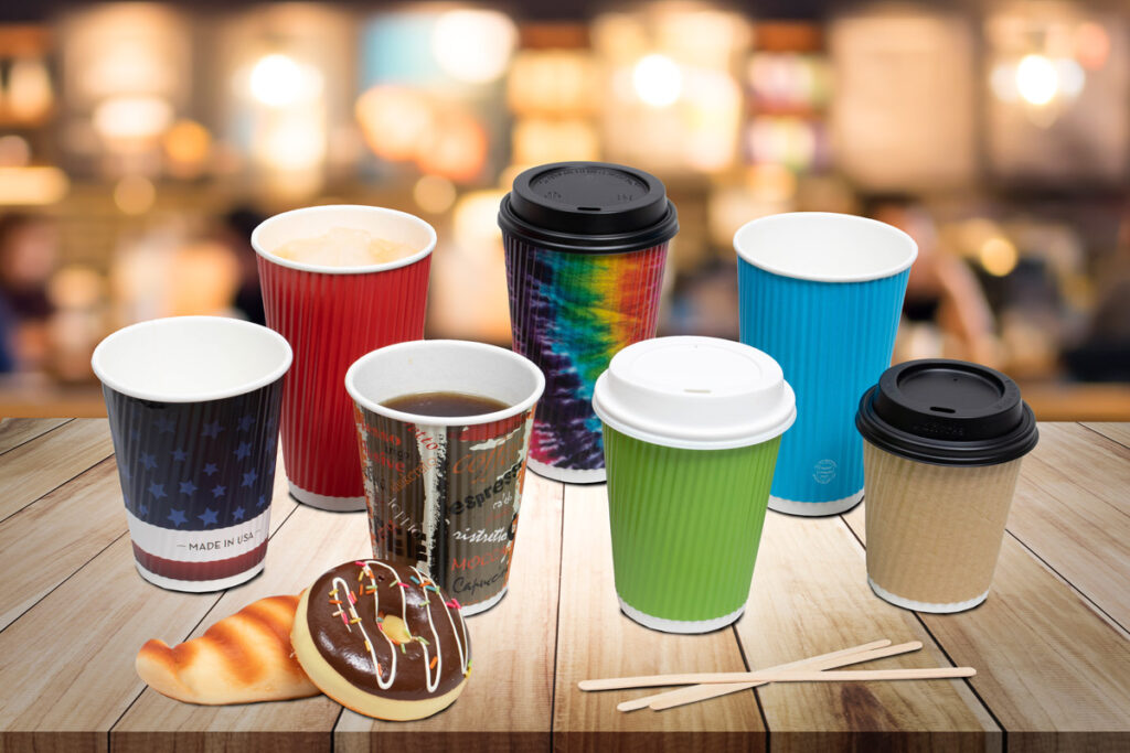 Paper ripple disposable cups