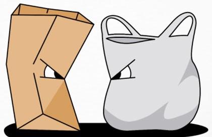 Paper vs. plastic bags