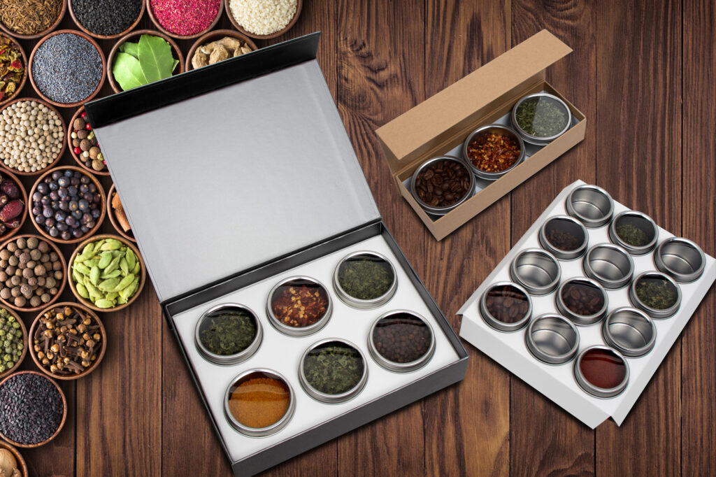 Magnetic Gift Boxes with Clear Lid Tins
