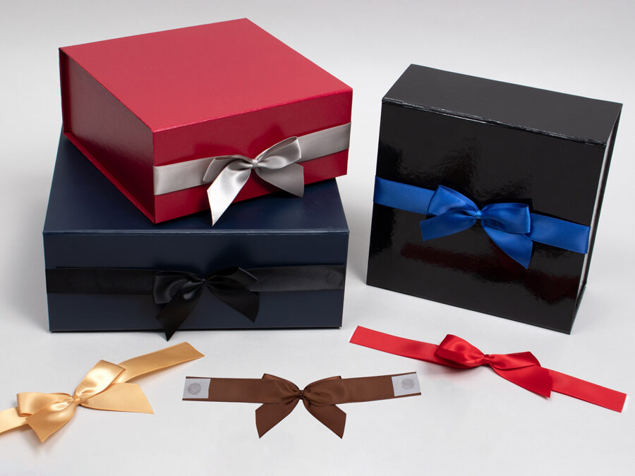 Magnetic Gift Boxes with Self Adhesive Bows