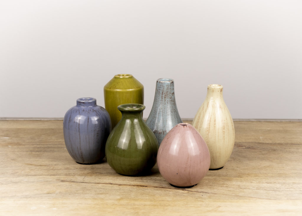 Set of Six Small Vases (Travel Together)
