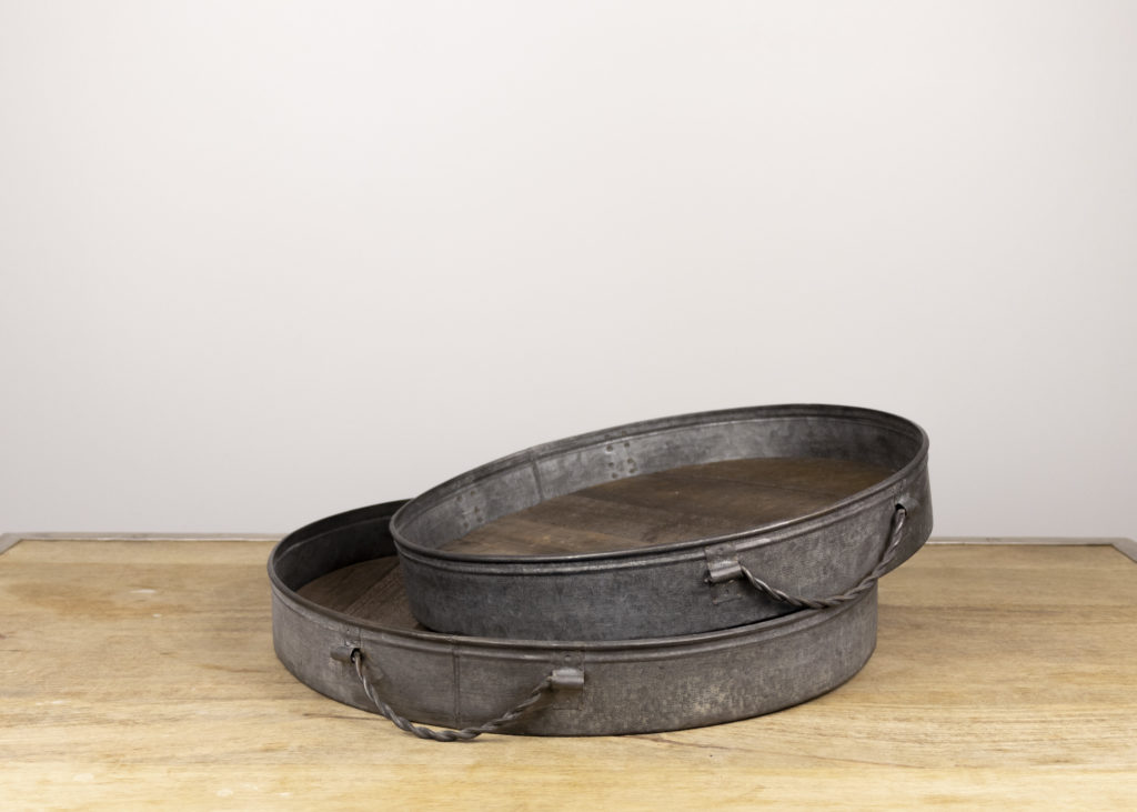 Pair of Rustic Trays (Travel Together)