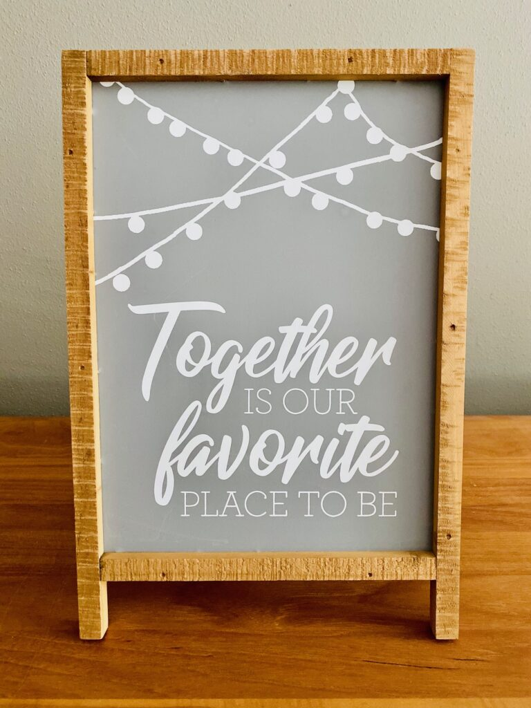 Romantic Table or Bar Top Sign