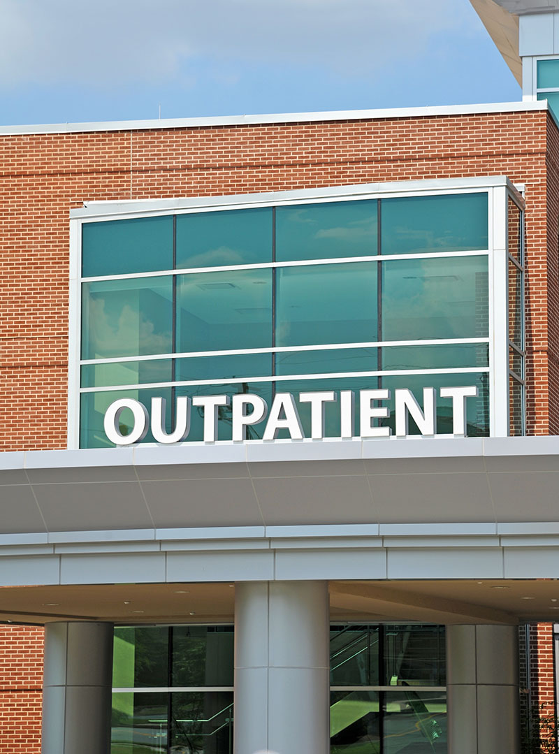 consulting services from outpatient orthopedics