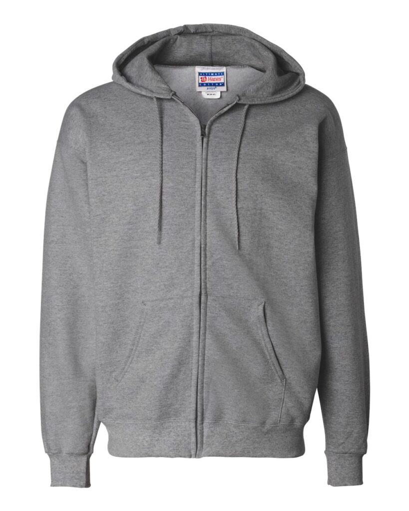 Hanes - Ultimate Cotton® Full-Zip Hooded Sweatshirt - F280