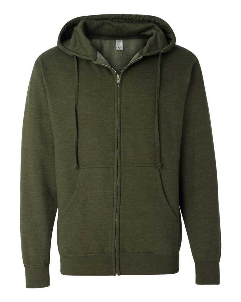 Independent Trading Co. - Midweight Full-Zip Hooded Sweatshirt - SS4500Z