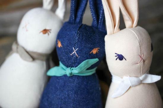 polka dot club bunny rattle