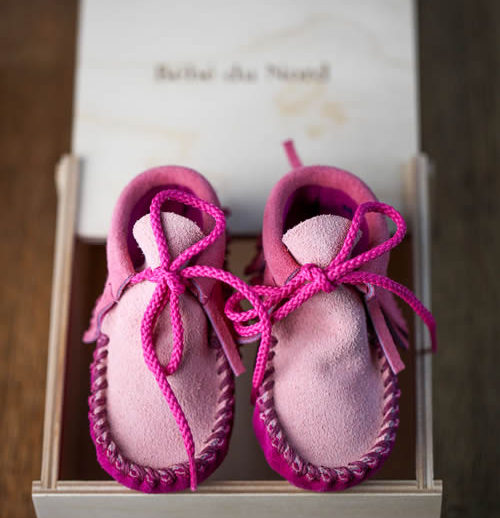 wapsi frills baby moccasins