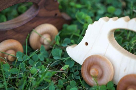 wooden hedgehog