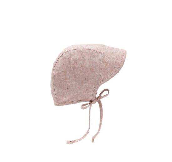 linen baby bonnet