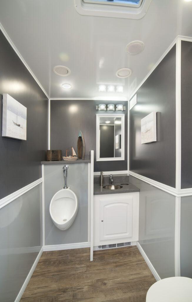 Portable Restroom Luxury Vanity and Urinal
