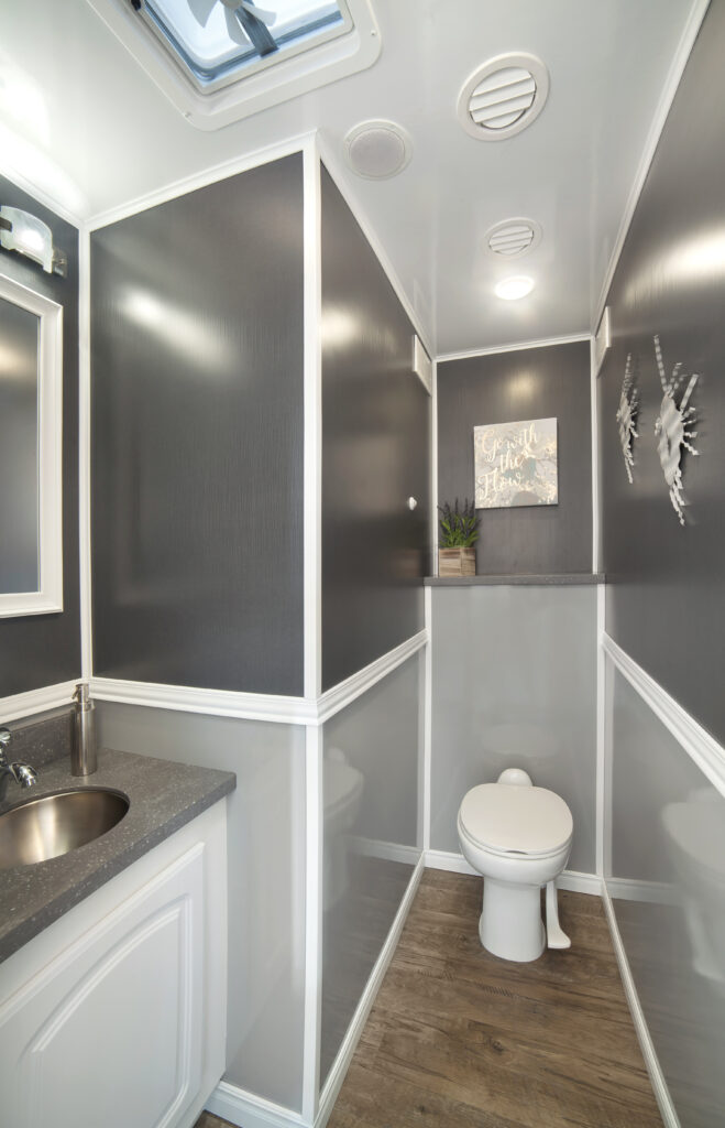 Porta Potty Trailer - Toilet and Vanity