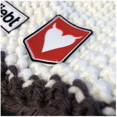 Hnag Loose wool white taupe close up