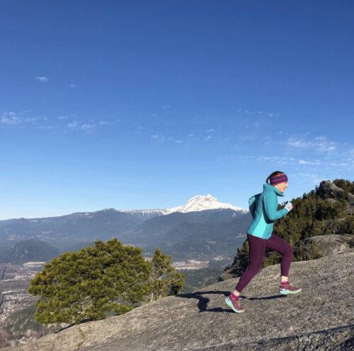 Running in the mountain with heidi liebt headband