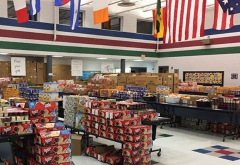 """view of food ready to pack for children's 'Power Pacs"""""""