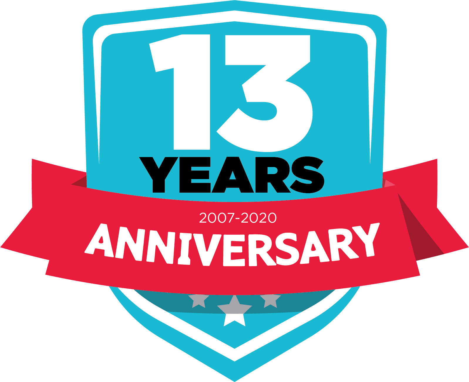 13 years anniversary logo