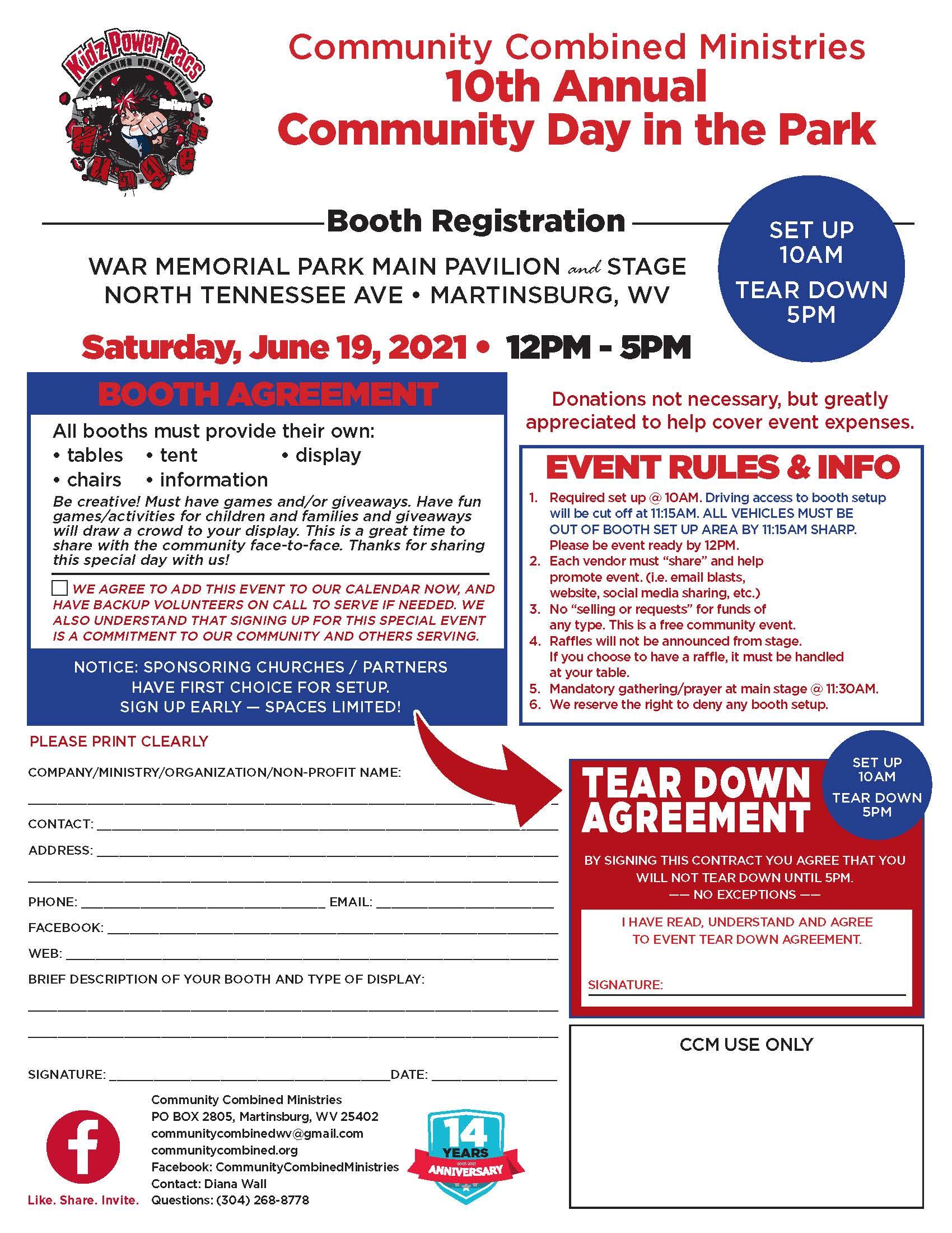 2021 Booth registration form