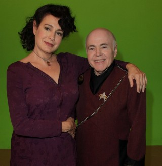 Sean Young as Dr. Lucien and Walter Koenig as Chekov, Star Trek Renegades - Makeup by ImpaQt FX