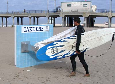 Large Toilet Paper Roll Holder at Huntington Beach, Los Angeles